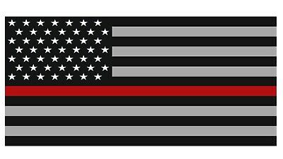 U.S. American Flag Car Magnet with Red Line - 4 X 6.5 - Weather and UV Resistant