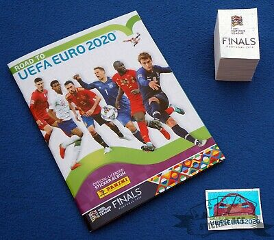 PANINI Road to UEFA Euro 2020,  empty album + complete loose sticker set