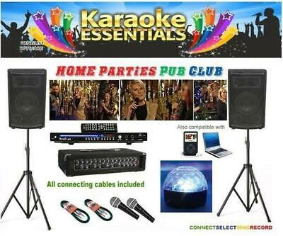 Pro Karaoke PA System Package for Pubs/Clubs inc. Disco Lights and 500 Songs