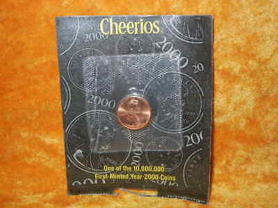 2000 Lincoln One Cent  **Cheerios Promotional Penny** Uncirculated