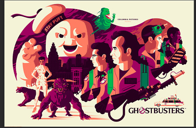 MONDO Poster Ghostbusters Tom Whalen SOLD OUT