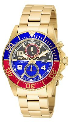 Invicta Men's 18519 Pro Diver Gold Stainless Steel Band Quartz Watch