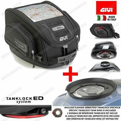 TANK BAG GIVI UT809 + FLANGE BF22 BMW 1200 R GS Adventure 2009-2013