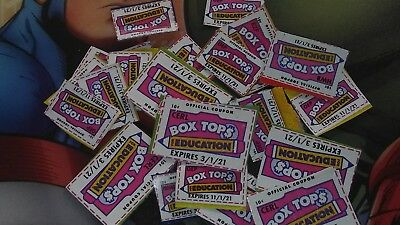 100 BOX TOPS FOR EDUCATION - BTFE - NONE EXPIRED all 2021 dates 🍀