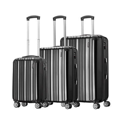 "Set of 3 piece 20 24 28"" Travel Luggage 4 Wheel Trolley Suitcase Bag Hard Shell"