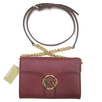 34aaf5d3b43d Michael Kors NWT $198 Vanna Large Phone Crossbody Bag Purse Mulberry Leather