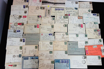 Libya Eritrea Lot of 50 Stamped Covers and Postcards