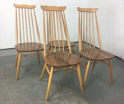 4 Vintage Ercol Goldsmith Dining Chairs , arm Sideboard Daybed Windsor Sofa