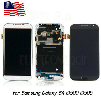 USA for Samsung Galaxy S4 i9500 i9505 LCD Digitizer Screen Touch Replacement AAA