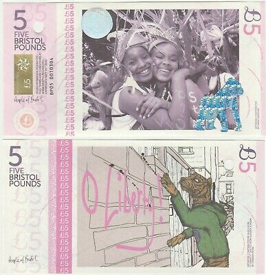 Uk Bristol £5 5 Pound 2012 Deleted UNC Local Currency Banknote 1st - Cancelled