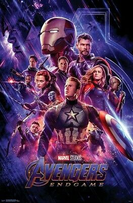 AVENGERS ENDGAME - ONE SHEET MOVIE POSTER - 22x34 - MARVEL 17253