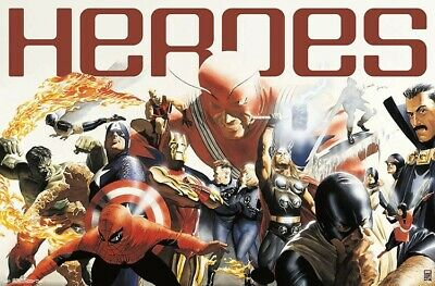 MARVEL 80TH ANNIVERSARY - HEROES POSTER - 22x34 - 17686
