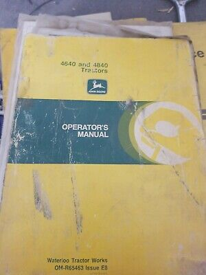 JOHN DEERE 4640 4840 Tractor Flat Rate Manual FRM-269 12/77 ... on john deere 4030 cab wiring diagram, john deere 4430 cab wiring diagram, john deere wiring harness diagram,