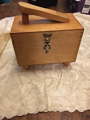 Vintage Pine Shoe Box with Contents