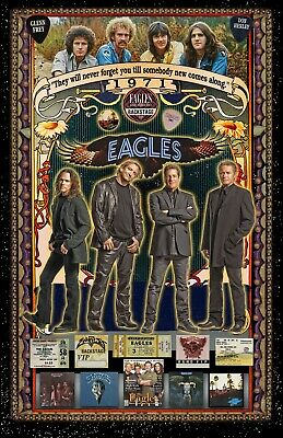 "The Eagles11x17"" TRIBUTE Poster - Vivid Colors!  (signed by artist)"