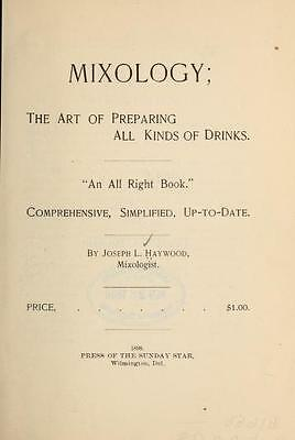 Vintage Cocktails & Mixology - 44 Old Cocktail Recipe Books On Dvd - Liquor Gin