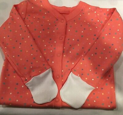 Baby Cotton Spotty Sleep Suit 12-18 Month With Mitts For Babies With Eczema