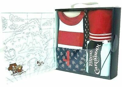 Disney Pirates of The Caribbean 4 Piece Layette Baby Set NEWBORN