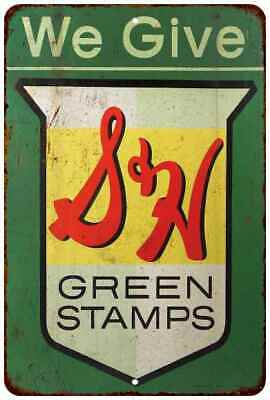 S&H Green Stamps Vintage Retro Reproduction Gift 8x12 Metal Sign 108120067097