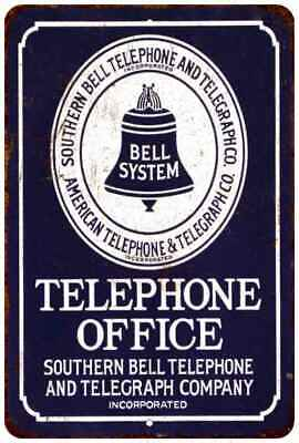 Bell Public Telephone Vintage Retro Reproduction 8x12 Metal Sign 108120067100