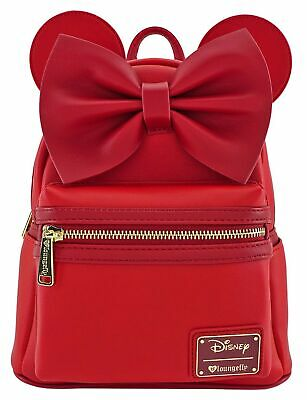Loungefly Disney Minnie Mouse Red Faux Leather Mini Backpack Standard
