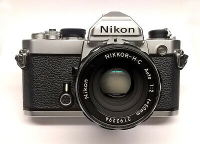 "Nikon FM Film SLR with Nikkor-HC 50mm f/2.0 ""Non-AI"" Lens, NICE, Works Perfect!"