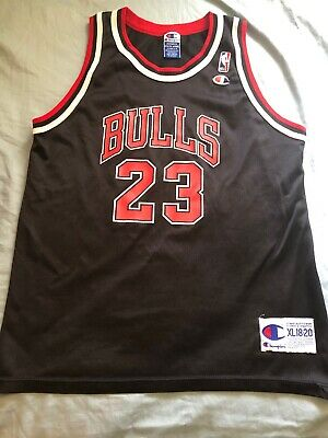 26061bb0b83752 Youth Vintage Champion Michael Jordan Chicago Bulls Nba Basketball Jersey
