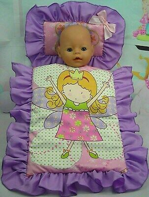 Dolls~Fairy Girl (12) ~ Pillow & Quilt Cover Set For~ Bed~Cot~Pram~Cradle