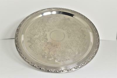 Vintage Oneida Silverplate Park Lane Footed Pedestal Platter Tray 12""