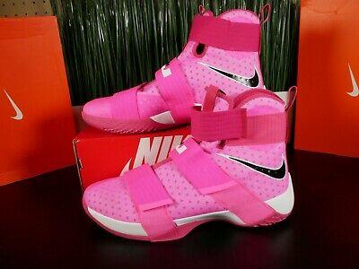 competitive price 7eb0c 18dbd Nike Lebron Soldier 10 X Kay Yow Breast Cancer Pink 844374-606 Size 14