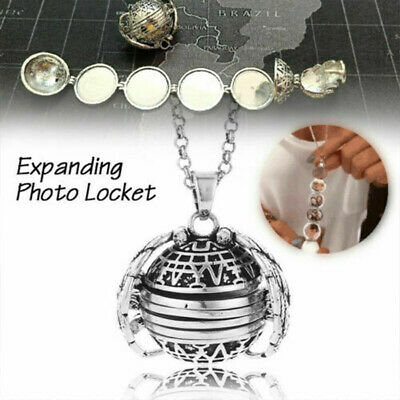 1PC Expanding Photo Locket Necklace Pendant Angel Wings Gift Jewelry Decoration