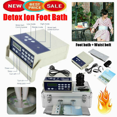 Detox Machine Cell Ion Ionic Array Foot Bath SPA Cleanse Machine Waist Belt UK