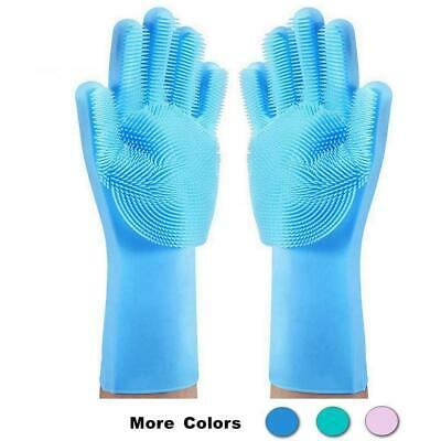 Magic Silicone Gloves for Kitchen Home Cleaning, Pet Hair Care and Car Washing