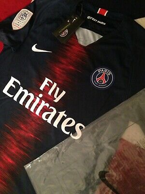 c82bbc2bf NEW OFFICIAL NIKE 18/19 Paris Saint Germain Home.(M) MBAPPE 7. SALE ...