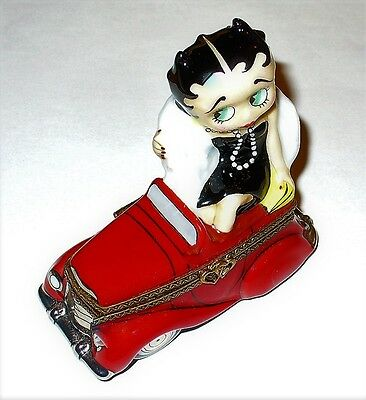Limoges France Box - Betty Boop - Out On The Town - Red Convertible Car - Comics