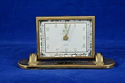 Vtg WELBY Germany Made 7 Jewels Travel Alarm Clock US Zone Works