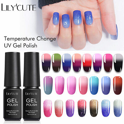 LILYCUTE 7ML Gel de manucure vernis à ongles polonais avec vernis UV Thermal Gel