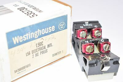 NEW Westinghouse L-56-C Contact 2 NC Poles