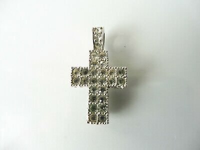 Beautiful Pendant__Silver Plated__ cross __Swarovski_