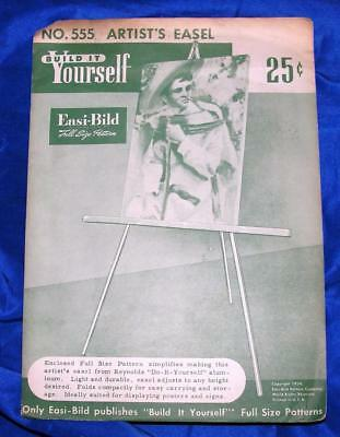 UNUSED VTG EASI BILD DIY WOODWORKING CRAFT PATTERN 555 Artists Easel