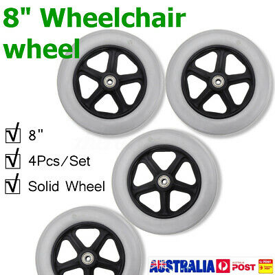 4pcs 8'' Replacement Parts Solid Front Rear Wheel for Wheelchair Rollator Walker