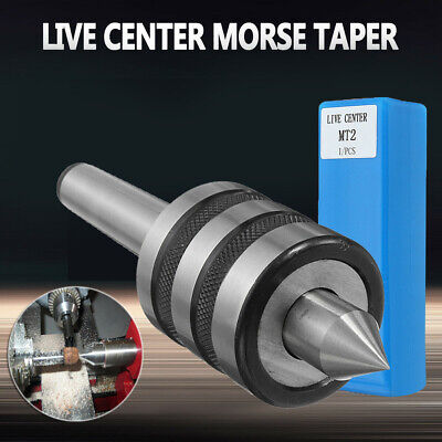 1* MT2 Bearing Steel Precision Live Center Morse Taper Triple Lathe CNC Tools
