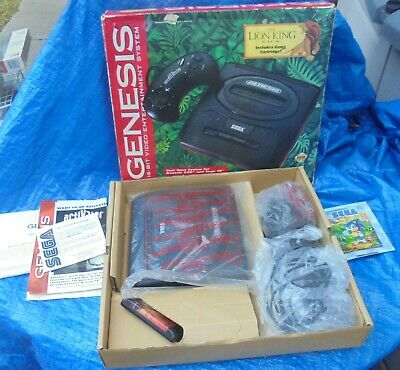 Sega Genesis Console System Complete In Box CIB With Paperwork Lion King Version