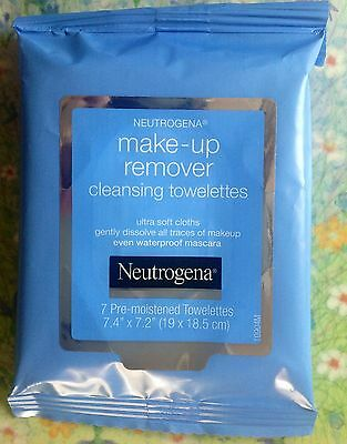 New Neutrogena Pre-Moistened Makeup Remover Cleansing Towelettes (7count) Travel