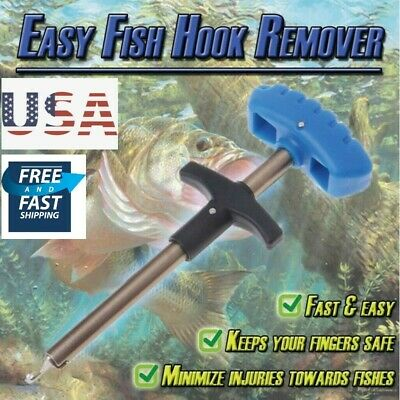 Easy Fish Hook Remover Puller Detacher Fishing Tool T-Handle Extractor Tackles