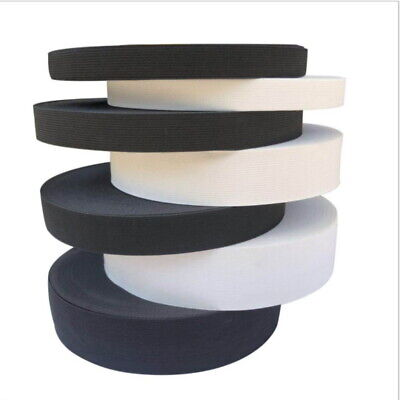 40mm or 60mm WIDE Flat ELASTIC Stretch Ribbon BAND Sewing Woven Trousers Waist