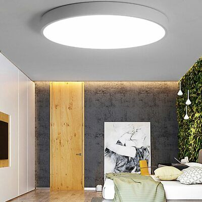 Bright Cool White Round LED Ceiling Down Light Panel Wall Kitchen Bathroom Lamp
