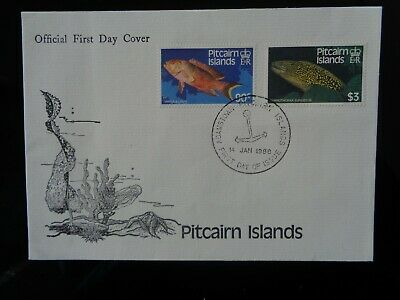 PITCAIRN ISLANDS 1988 FISH DEFINITIVE 2v 90c & $3 ON FIRST DAY COVER