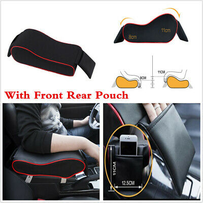 Car Accessories SUV Armrest Box Mats PU Leather Console Pad Memory Foam Cushion