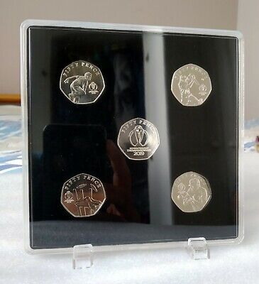 2019 Isle of Man ICC Cricket World Cup Set of 50p coins with display case UNC